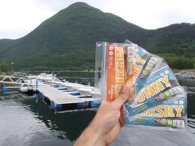 Gummifisch in Norwegen kurz vor dem Test